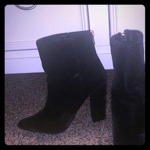 Black Velvet Booties • size 8